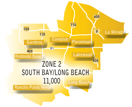 South Bay/Long Beach map
