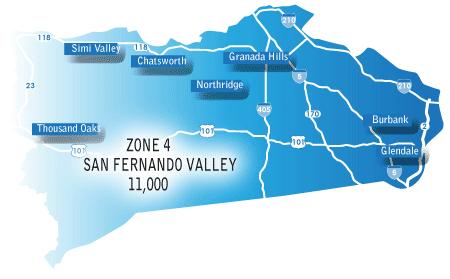 San Fernando Valley map
