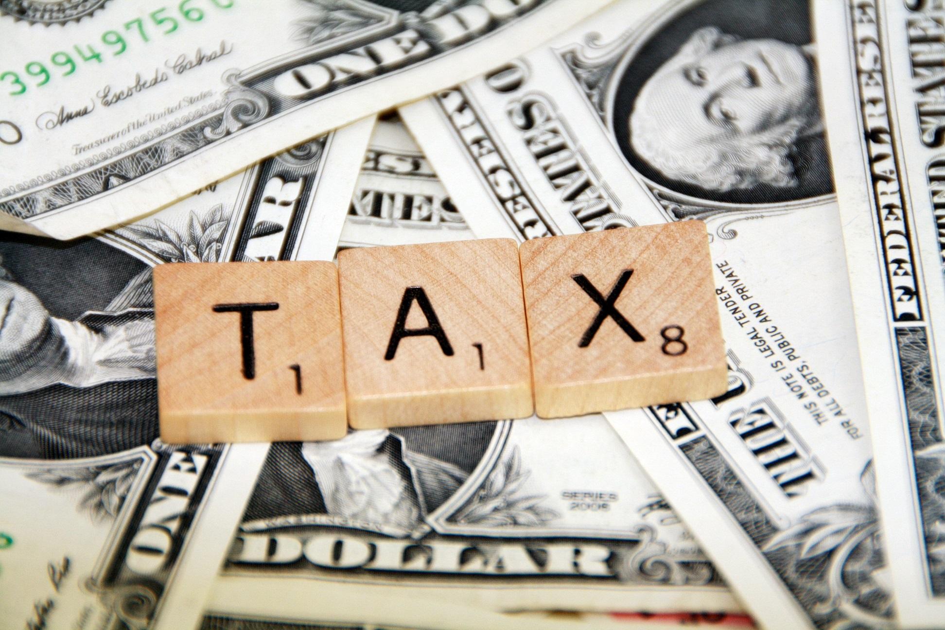 Tax - scrabble blocks